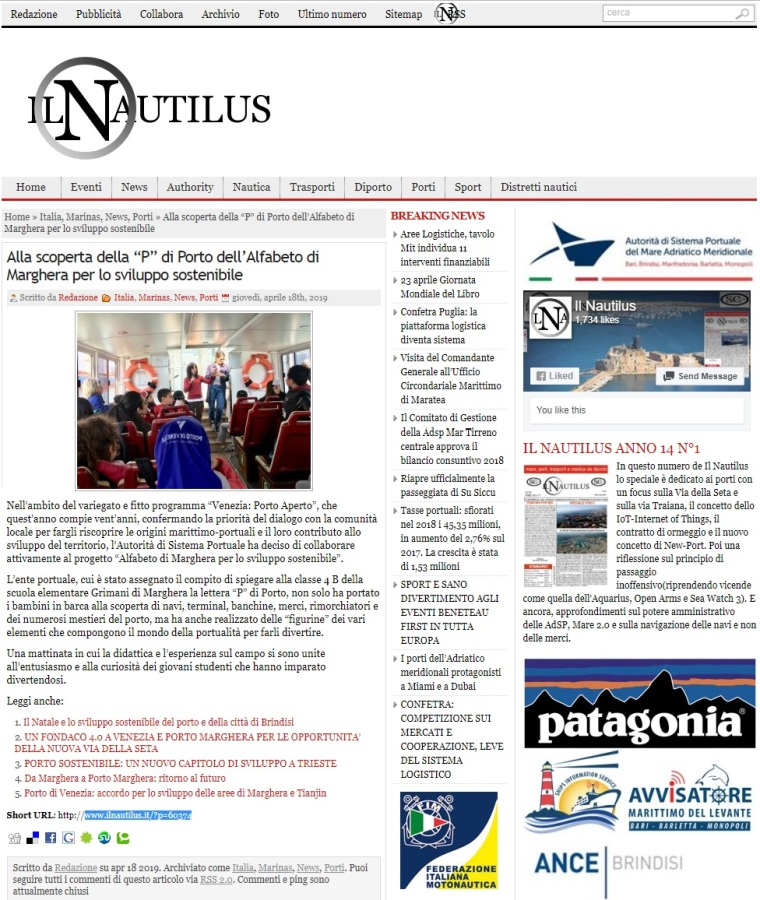 18 aprile 2019 - articolo IL NAUTILUS - Alfabeto di Marghera forever per lo Sviluppo Sostenibile 2019.jpg