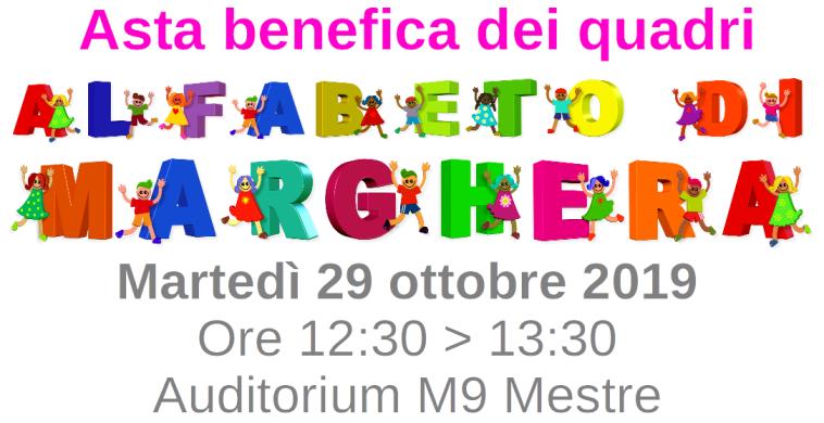 banner asta dei quadri alfabeto di marghera m9 mestre auditorium 29 ottobre 2019