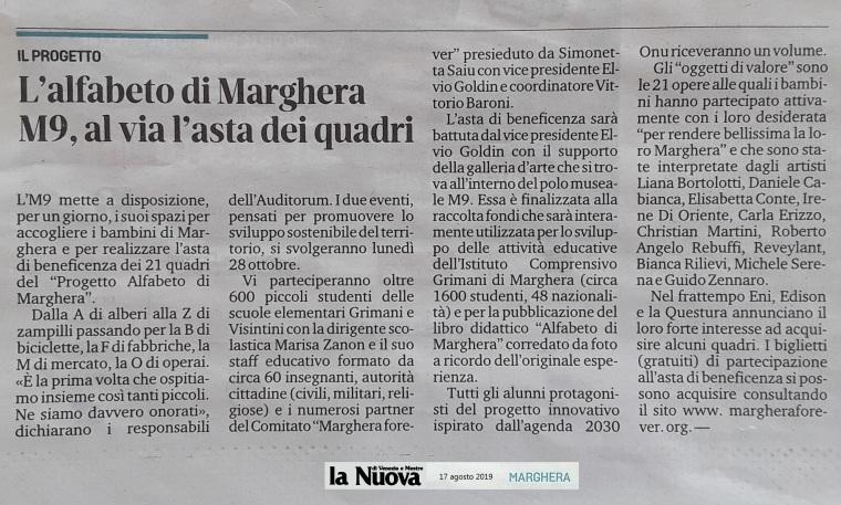 La Nuova Venezia 17 agosto 2019 Marghera forever asta quadri M9 museo Mestre 900.jpg