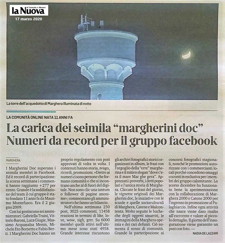 17 marzo 2020 - La nuova Venezia Margherini DOC